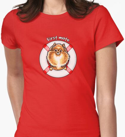 Orange Pomeranian :: First Mate T-Shirt