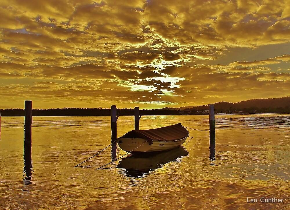 On golden pond by Len  Gunther