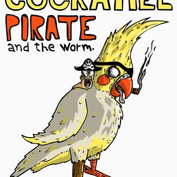 Cockatiel Pirate and the Worm. by DudubeL