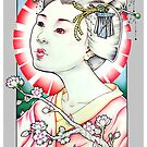 Geisha Portrait by Paula Stirland