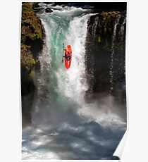 Extreme Waterfall Kayaking Poster