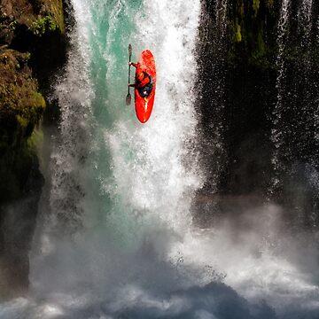 Extreme Waterfall Kayaking by DaleCody