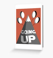 Going Up Greeting Card