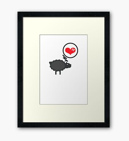 Black Sheep in Love VRS2 Framed Print