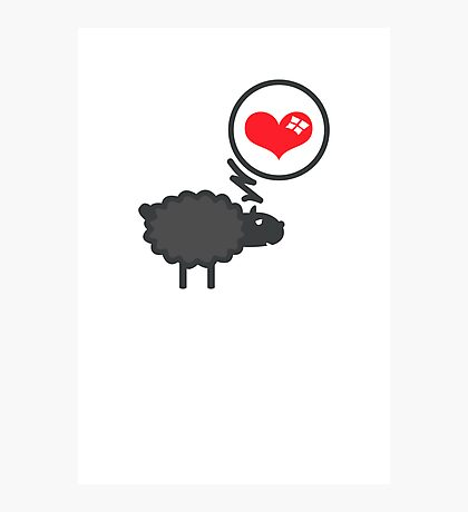 Black Sheep in Love VRS2 Photographic Print