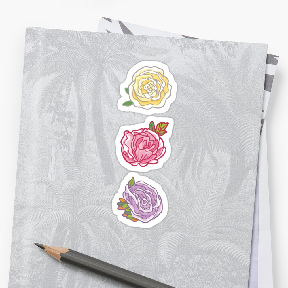 Decorative Roses Sticker