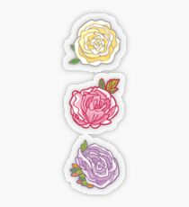 Decorative Roses Transparent Sticker