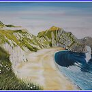 Durdle Door - panoramic by Annie Lovelass
