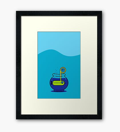 Yellow Submarine in a Bowl VRS2 Framed Print