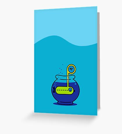 Yellow Submarine in a Bowl VRS2 Greeting Card