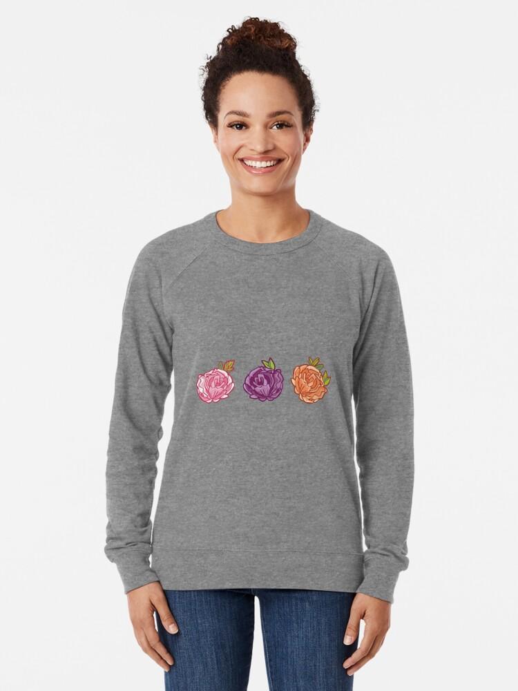 Alternate view of Decorative Roses Lightweight Sweatshirt