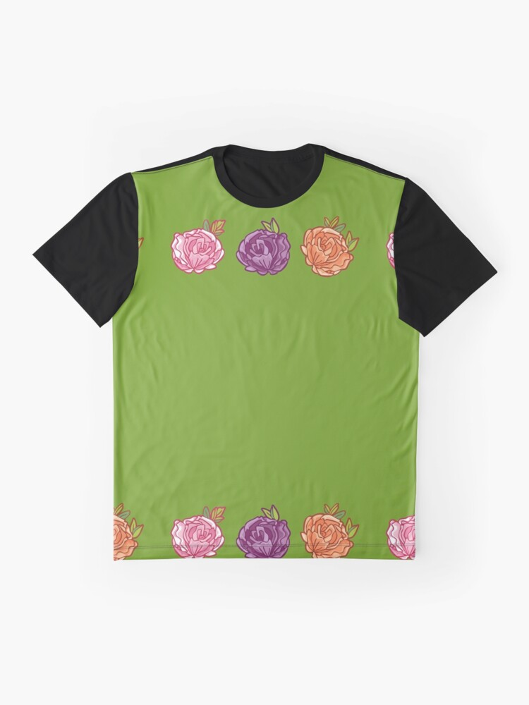 Alternate view of Decorative Roses Graphic T-Shirt