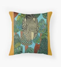 Trees - The Qalam Series Throw Pillow