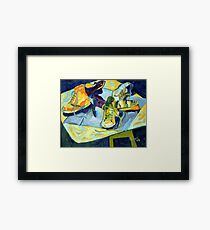 students' Shoes Framed Print