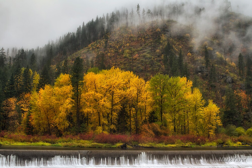 Tumwater Canyon Autumn Colors by Mark Kiver