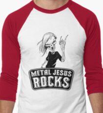 Metal Jesus RISEN Men's Baseball ¾ T-Shirt