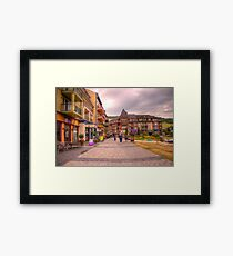 Blue Mountain Village Framed Print