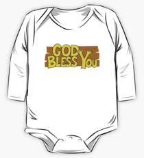 "Christian ""God Bless You"" T-Shirt One Piece - Long Sleeve"