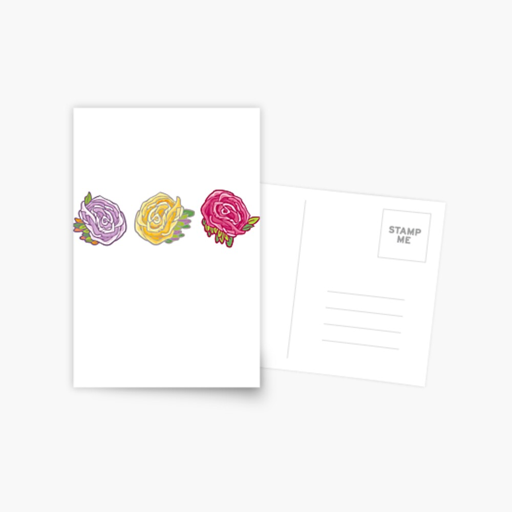 Decorative Roses Postcard