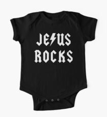 "Christian ""Jesus Rocks"" Dark T-Shirt Kids Clothes"