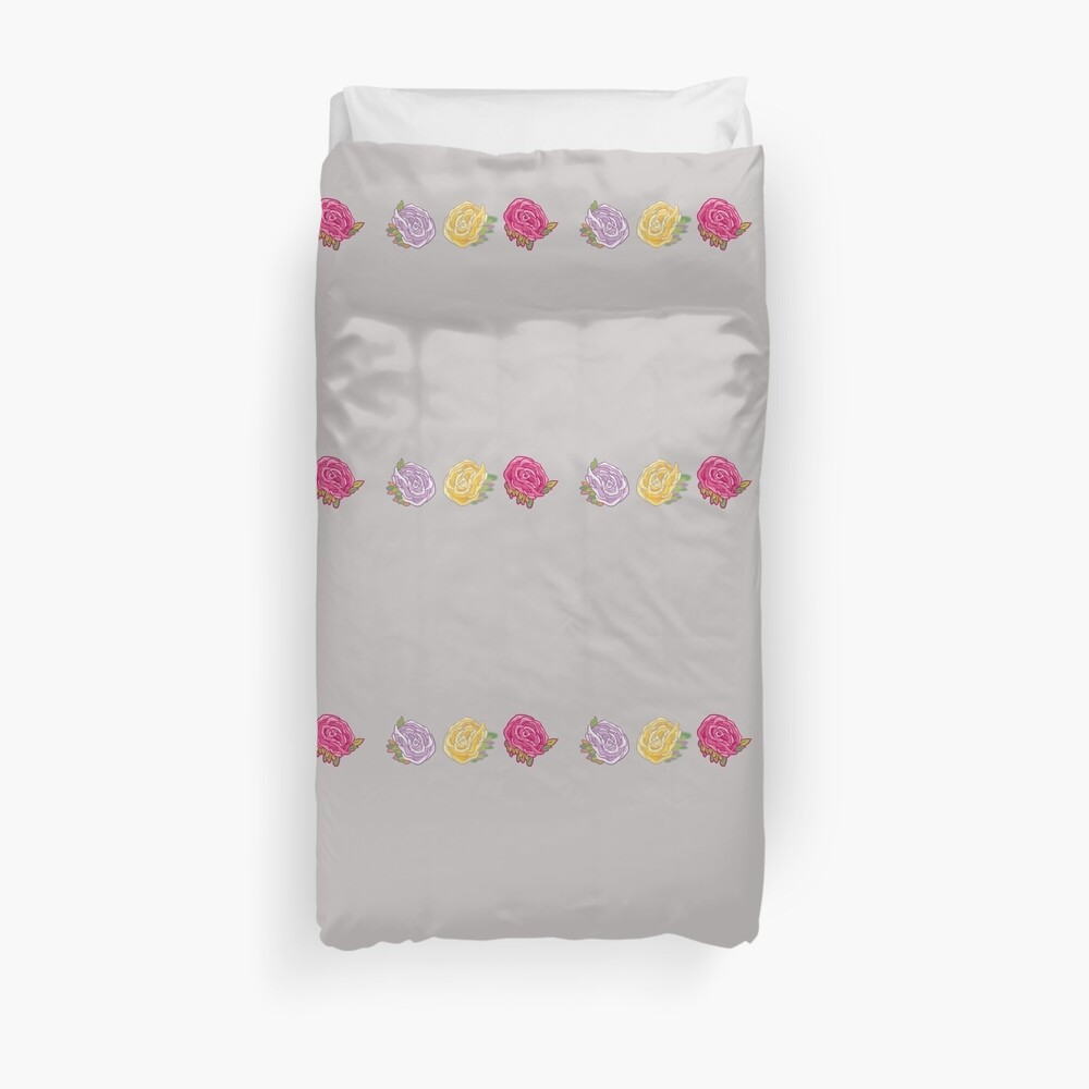 Decorative Roses Duvet Cover