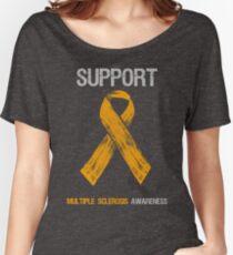 Orange Ribbon Multiple Sclerosis Awareness Women's Relaxed Fit T-Shirt