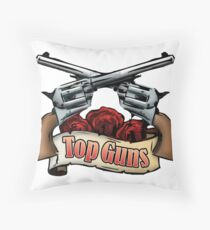 Top Guns Throw Pillow