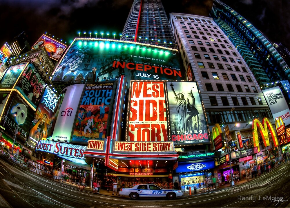 Fisheye on Broadway by Randy  LeMoine