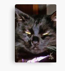 ACEO Abstract Black Cat 10 Canvas Print
