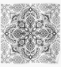 Pattern in Black & White Poster