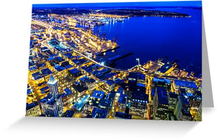 Twilight Above Downtown Seattle by Jim Stiles