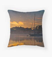 Tamar River Dawn Throw Pillow