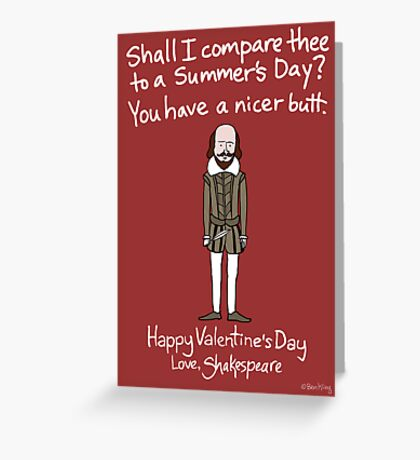 William Shakespeare Greeting Card
