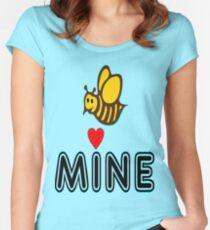 °•Ƹ̵̡Ӝ̵̨̄Ʒ♥Bee Mine-Cute HoneyBee Clothing & Stickers♥Ƹ̵̡Ӝ̵̨̄Ʒ•° Women's Fitted Scoop T-Shirt