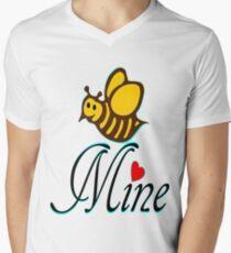 °•Ƹ̵̡Ӝ̵̨̄Ʒ♥Bee Mine-Cute HoneyBee Clothing & Stickers♥Ƹ̵̡Ӝ̵̨̄Ʒ•° Men's V-Neck T-Shirt