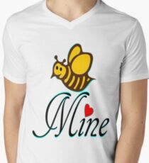 °•Ƹ̵̡Ӝ̵̨̄Ʒ♥Bee Mine-Cute HoneyBee Clothing & Stickers♥Ƹ̵̡Ӝ̵̨̄Ʒ•° Men's V-Neck T-Shirt