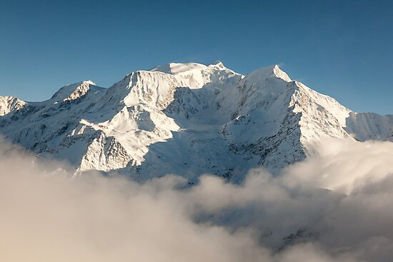Mont Blanc in Winter by Joshua McDonough Photography