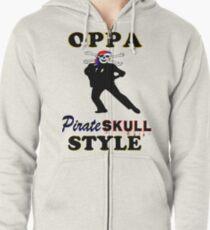 ★ټPirate Skull Style Hilarious Clothing & Stickersټ★ Zipped Hoodie