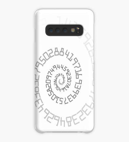PI Spiral 004 White to Black Case/Skin for Samsung Galaxy