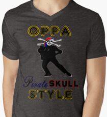 ★ټPirate Skull Style Hilarious Clothing & Stickersټ★ Men's V-Neck T-Shirt