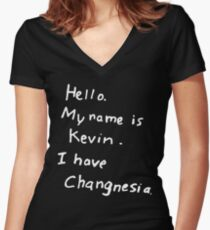 Changnesia Women's Fitted V-Neck T-Shirt