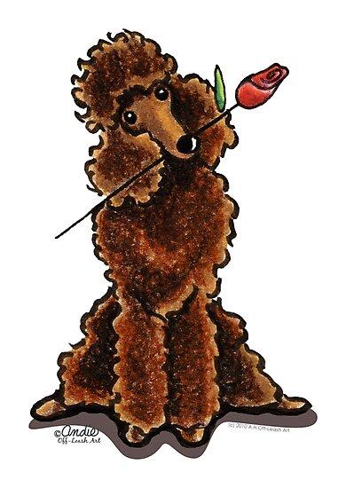 Chocolate Poodle Sweetheart by offleashart
