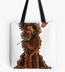 Chocolate Poodle Sweetheart Tote Bag
