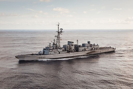 Old French Navy Destroyer by Joshua McDonough Photography
