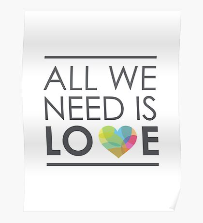 ALL WE NEED IS LOVE Poster
