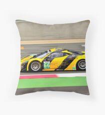 Ferrari F458 GT2 No 66 Throw Pillow