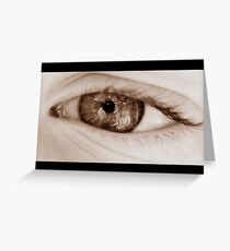 natural lens Greeting Card