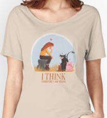 I think therefore I am vegan Women's Relaxed Fit T-Shirt