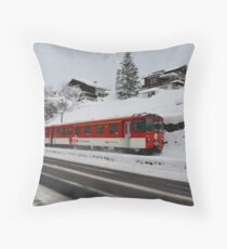 swiss train Throw Pillow
