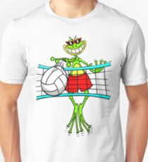 Funny Volleyball Frog Unisex T-Shirt